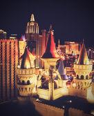 Vintage bild av casino i las vegas på kvällen. — Stockfoto
