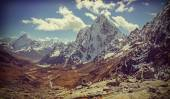Retro vintage filtered picture of Himalaya mountains landscape,  — Stock Photo