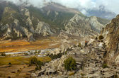 Braga, little village in the Himalayas, Annapurna Conservation A — Stock Photo