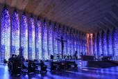 Interior of The Sanctuary of Dom Bosco in Brasilia. — Stock Photo