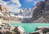 Torres del Paine mountains, Patagonia, Chile — Stock Photo