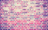 Grunge brick wall  background with vignetted corners. — Stock Photo