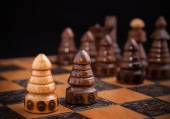 Chess, one against all concept. — Stock Photo
