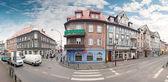 Vista panoramica di Wojska Polskiego Street nel centro della città. — Foto Stock