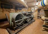 ソ連の核兵器貯蔵でディーゼル発電機. — ストック写真