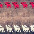 Vintage Christmas background, moose on wooden background. — Photo #60349541