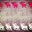 Vintage Christmas background, moose on wooden background. — ストック写真 #60349795