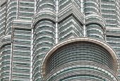 High quality close up view of  The Petronas Twin Towers. — Stock Photo