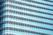 Blue abstract background, glass and steel of modern building. — Stock Photo