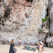 Rock Climbers And Tourists On Railay Beach. — Stock Photo #64533185