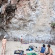 Rock Climbers And Tourists On Railay Beach. — Stock Photo #64533831