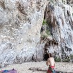 Rock climbers on Railay beach. — Stock Photo #64533983