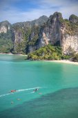 Vertical picture of a beautiful beach, Railay in Thailand. — Fotografia Stock