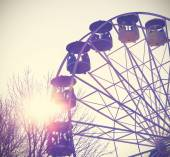 Retro vintage filtered picture of a carousel. — Stock Photo
