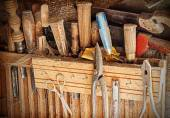 Old rusty woodworking tools. — Stock Photo