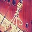Vintage style wooden yacht equipment. — Stock Photo #75303799