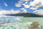 Perito Moreno Glacier in Argentina. — Fotografia Stock