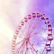 Vintage stylized picture of a ferris wheel, space for text. — Fotografia Stock  #79825590