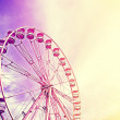 Vintage stylized picture of a ferris wheel, space for text. — Fotografia Stock  #79825784