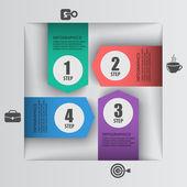 Vector arrows paper element infographics — Stockvektor