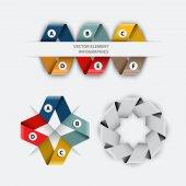 Set of infographics elements tape — Stockvektor