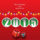 2015 new year greeting card design — Stock Vector