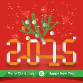 Holiday Christmas card 2015 — Stock Vector