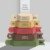 3d graphic design infographics pyramid data — Stock Vector