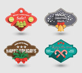 Set Christmas labels for trade discounts — Stock Vector