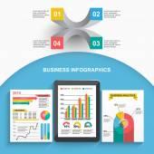 Set of business statistics  infographics — Stock Vector