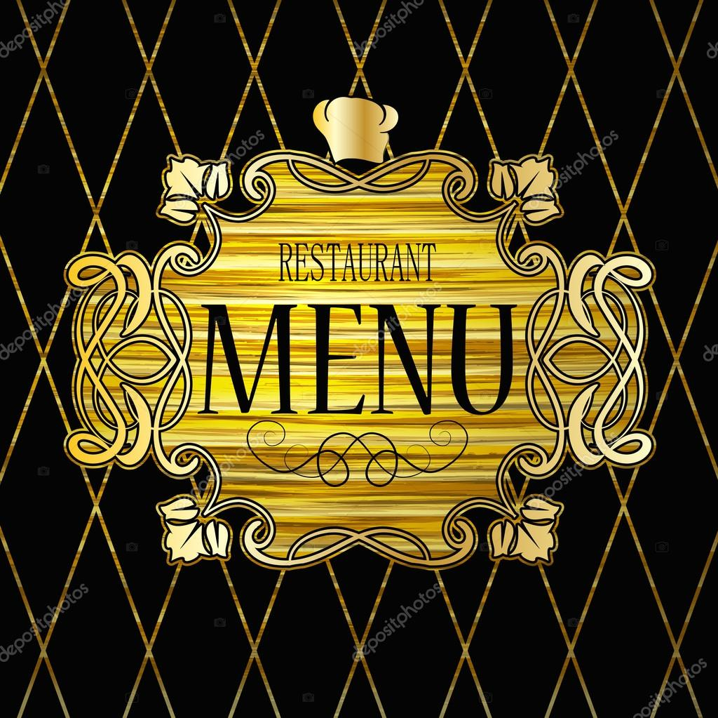first page of the restaurant menu stock vector copy chalapan  luxurious decoration of the first page of the restaurant menu invitation ornate vintage design vector by chalapan