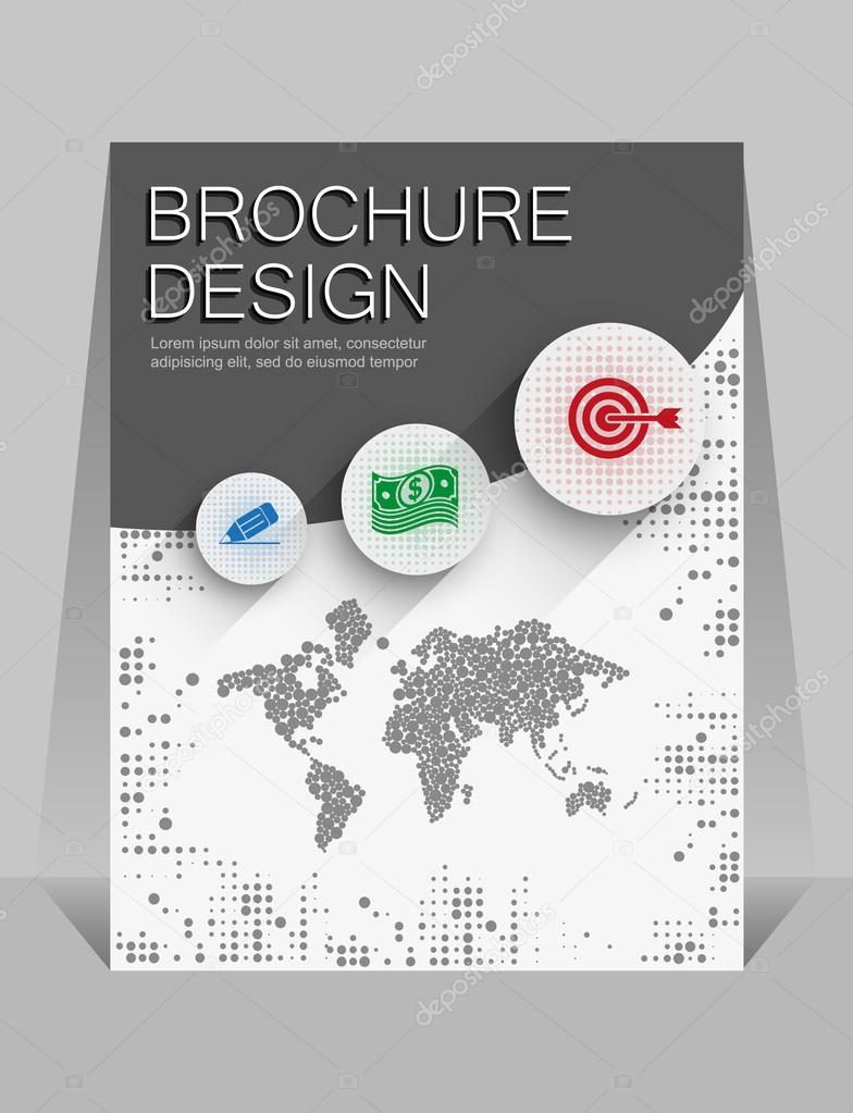 brochure design the first page stock vector copy chalapan  brochure design the first page stock illustration