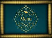 Restaurant menu cover — Stock Vector
