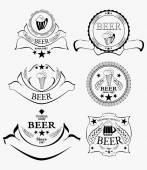 Conjunto de rótulos de cerveja — Vetor de Stock