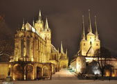 Erfurt Cathedral Hill in winter — Zdjęcie stockowe