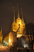 Erfurt Cathedral Hill — Stock Photo