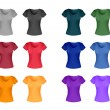 T-shirt template collection — Stock Vector #63953893