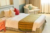 Interior luxury comfortable classic  bedroom — Zdjęcie stockowe