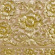 Pattern of flower carved on wood background — Stock Photo #55484033