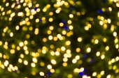 Night light Yellow bright bokeh background — Stock Photo