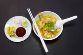 Khao Sawy Northern Thai Noodle Curry Soup  with chicken — Stock Photo