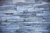 Old blue modern pattern of stone wall decorative surfaces — Stock Photo
