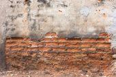 高解像度の写真のビンテージ オレンジ柄の古いレンガ wal — ストック写真