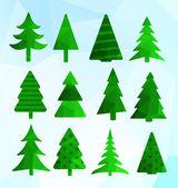 Christmas trees illustration — Stock Vector