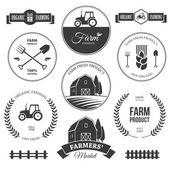 Farm labels 2 — 图库矢量图片