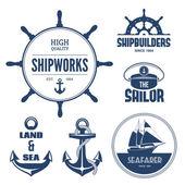 Etichette nautiche — Vettoriale Stock