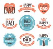 Father's Day Labels and Signs — Stock Vector