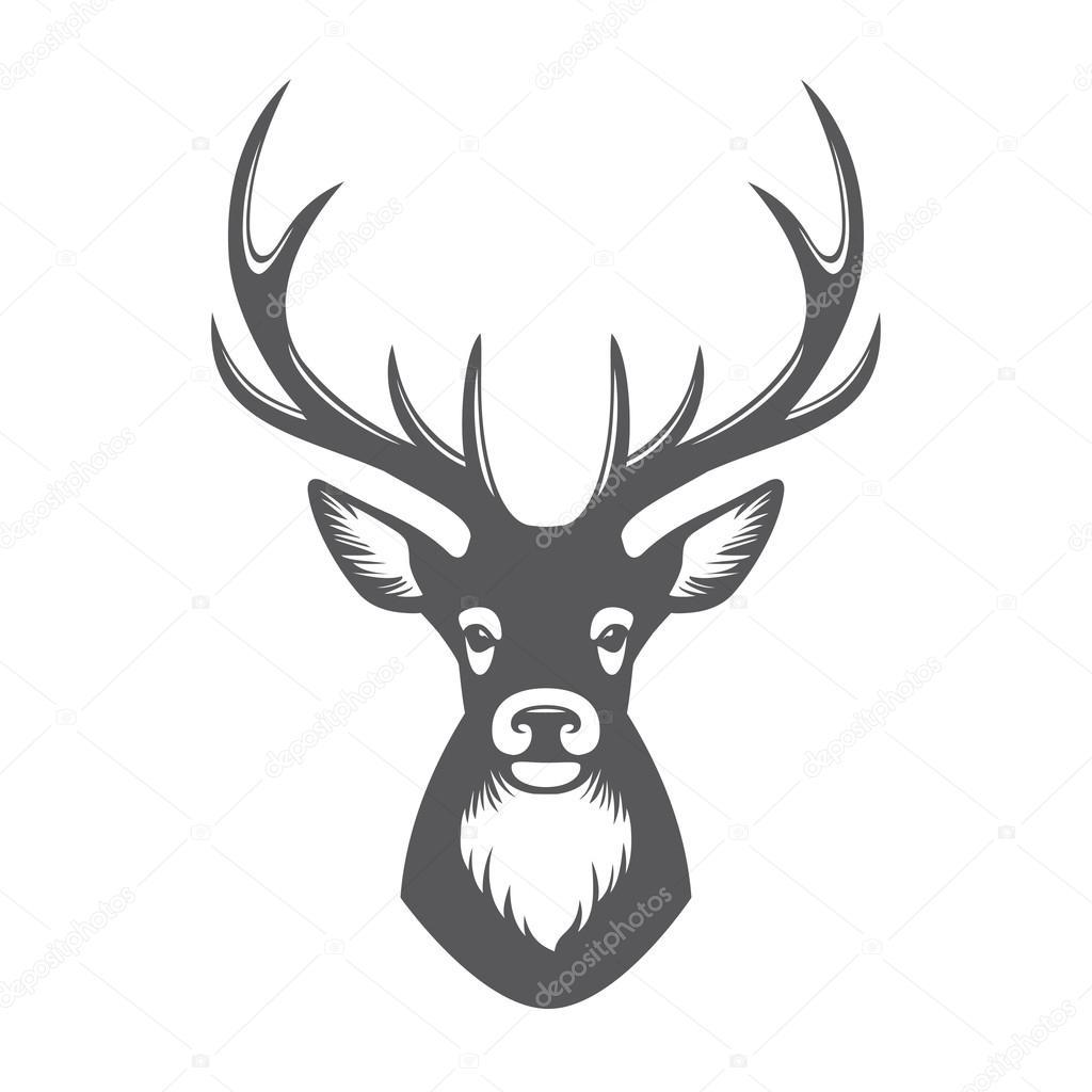 T te de chevreuil illustration image vectorielle maglyvi 98577650 - Dessin tete de cerf ...