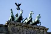 Quadriga at the Brandenburg Gate in Berlin — Foto Stock