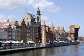 Zabytkowym Starym mieście w Gdańsku w Polsce — Zdjęcie stockowe